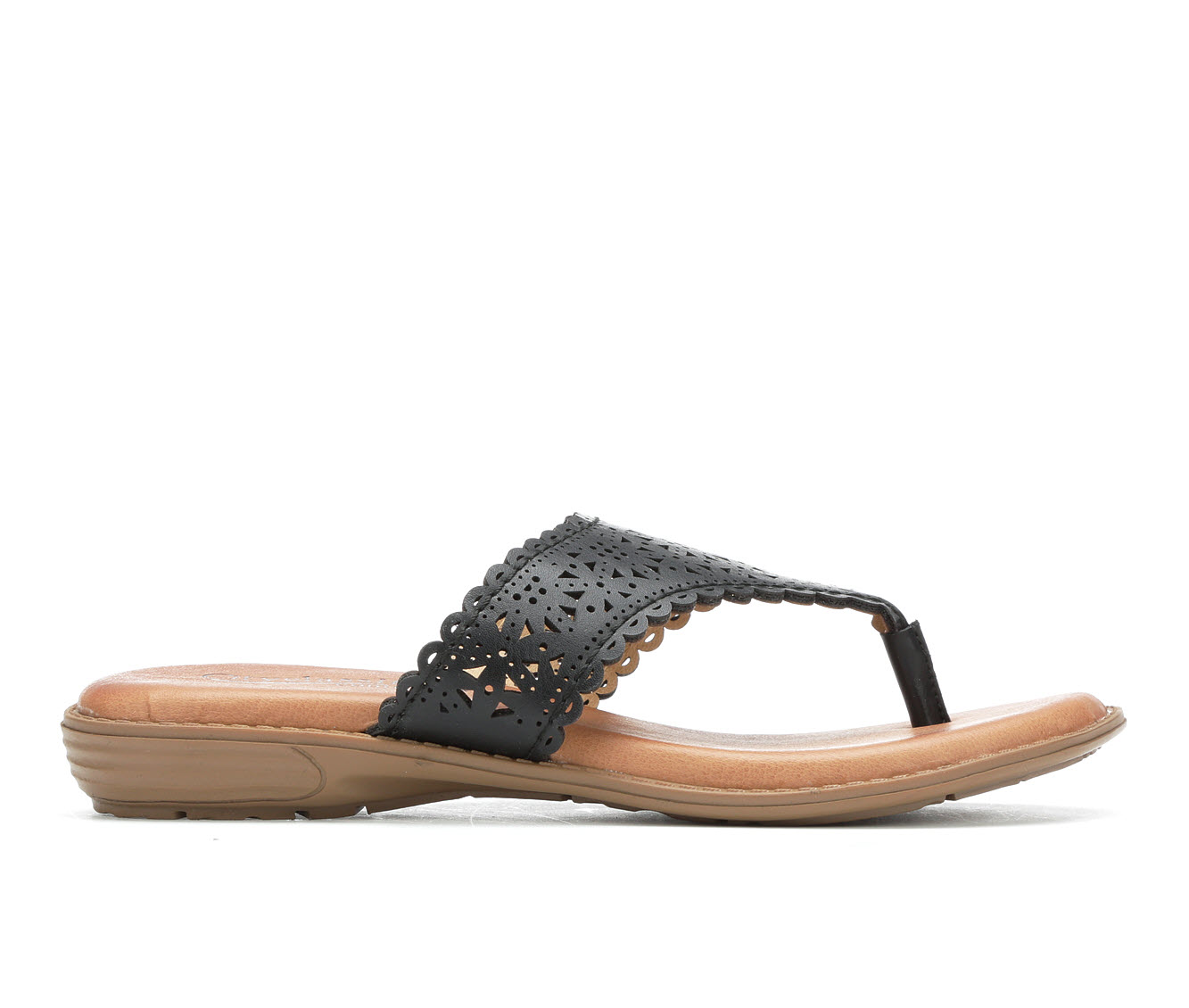City Classified Quirk Women's Sandal (Black Faux Leather)