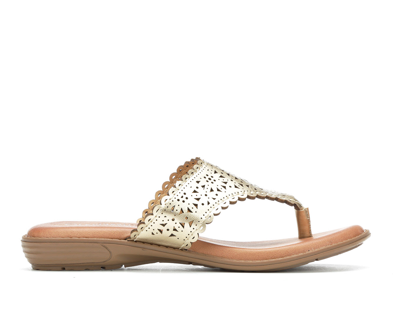 City Classified Quirk Women's Sandal (Gold Faux Leather)