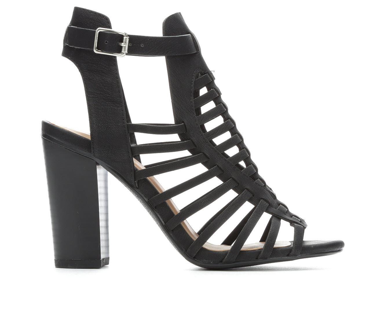 Delicious Ibiza Women's Dress Shoe (Black Faux Leather)