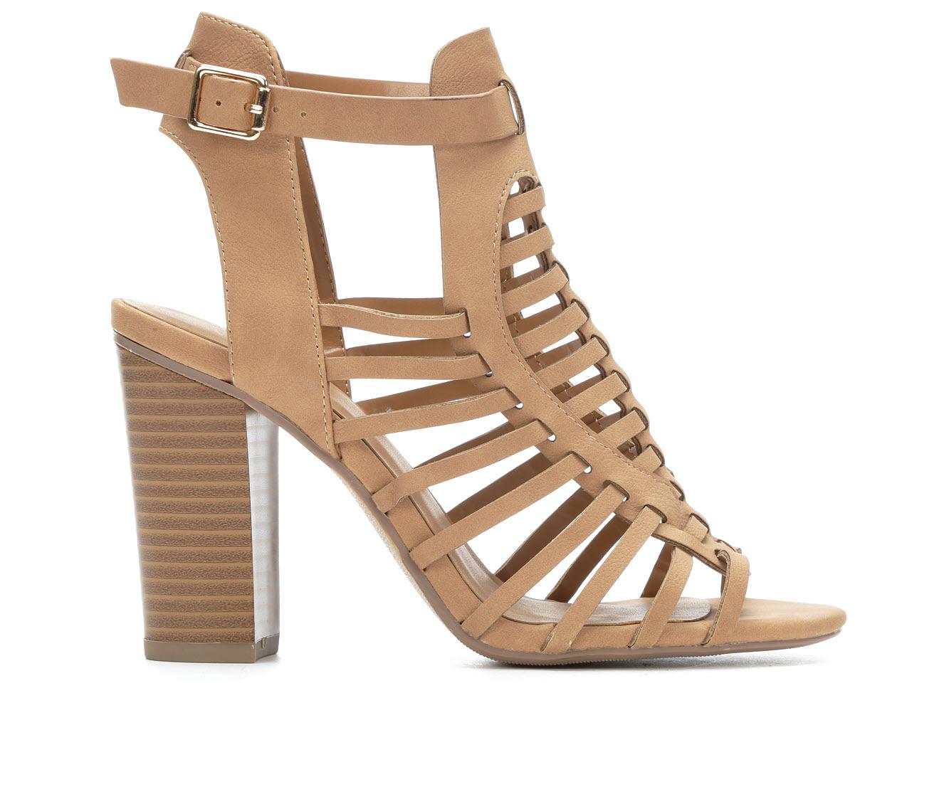 Delicious Ibiza Women's Dress Shoe (Beige Faux Leather)