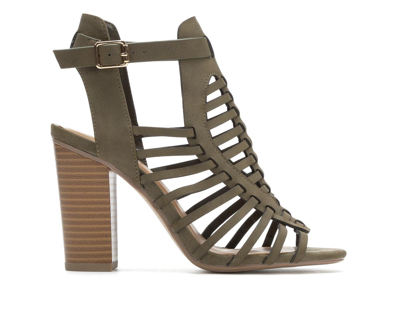 Delicious Ibiza Women's Dress Shoe (Green Faux Leather)