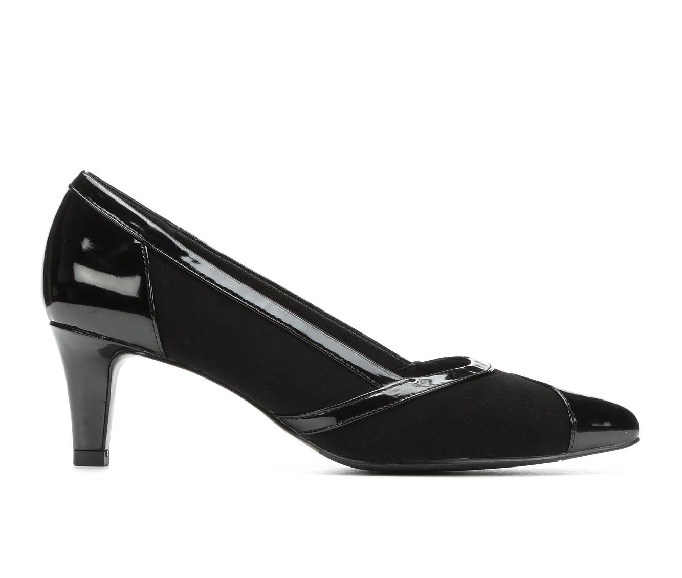 Easy Street Serendipity Women's Dress Shoe (Black Faux Leather)