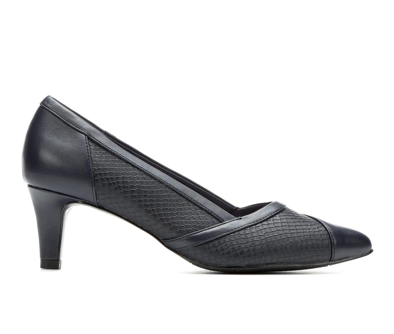Easy Street Serendipity Women's Dress Shoe (Blue Faux Leather)