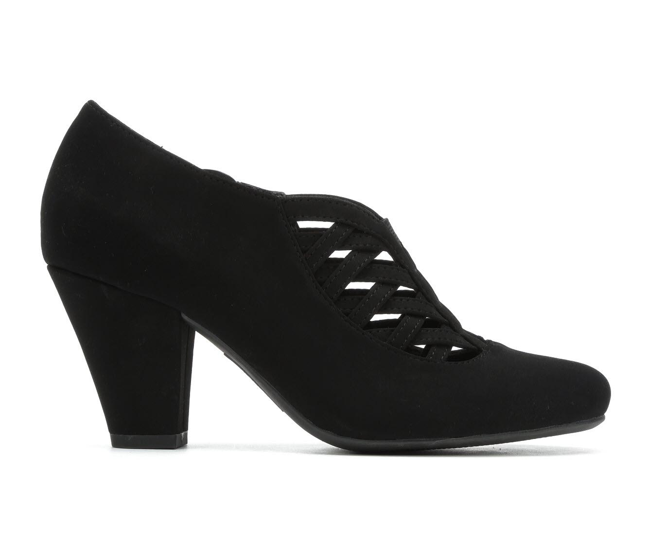 Easy Street Emmy Women's Dress Shoe (Black Faux Leather)