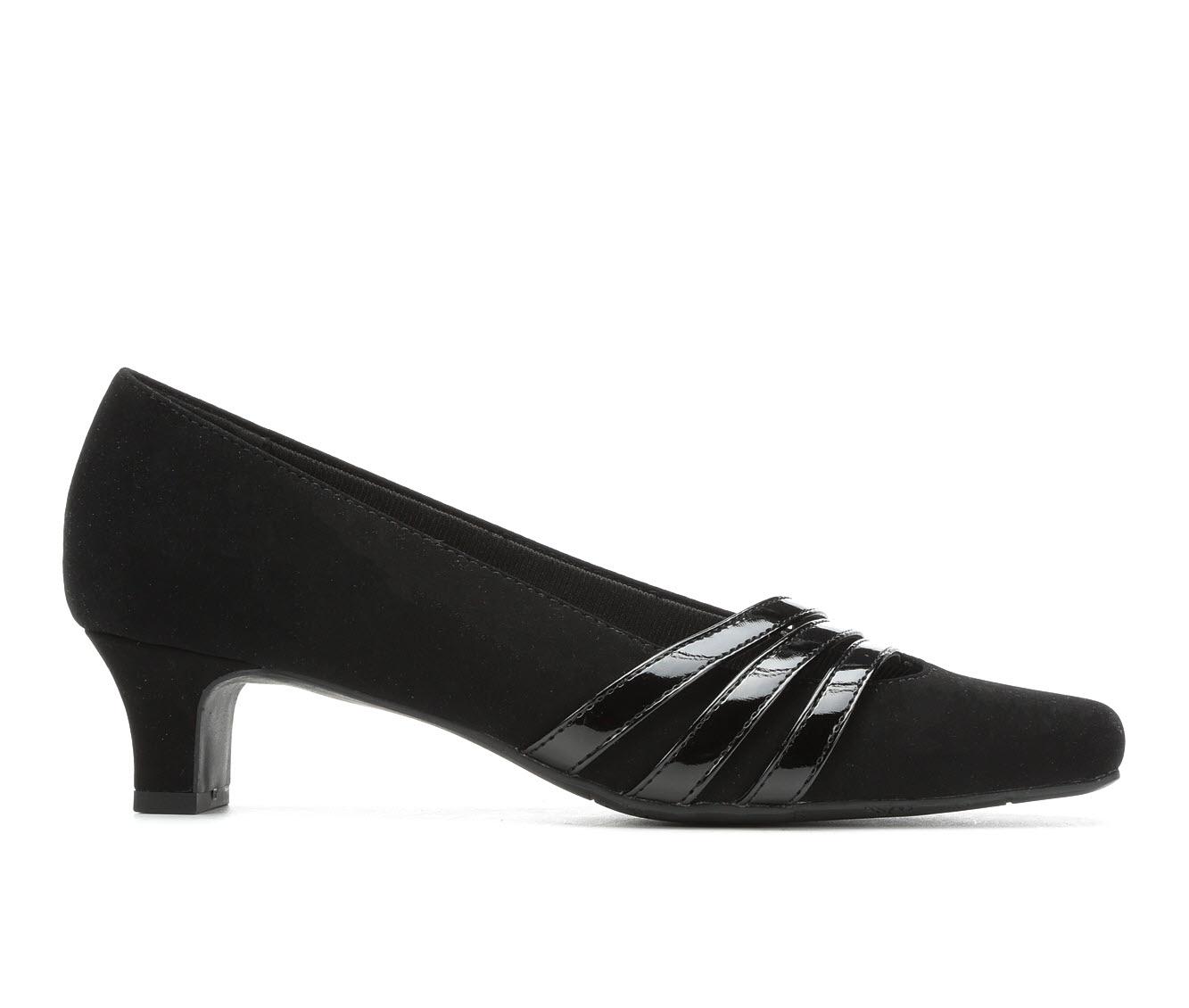 Easy Street Entice Women's Dress Shoe (Black Faux Leather)