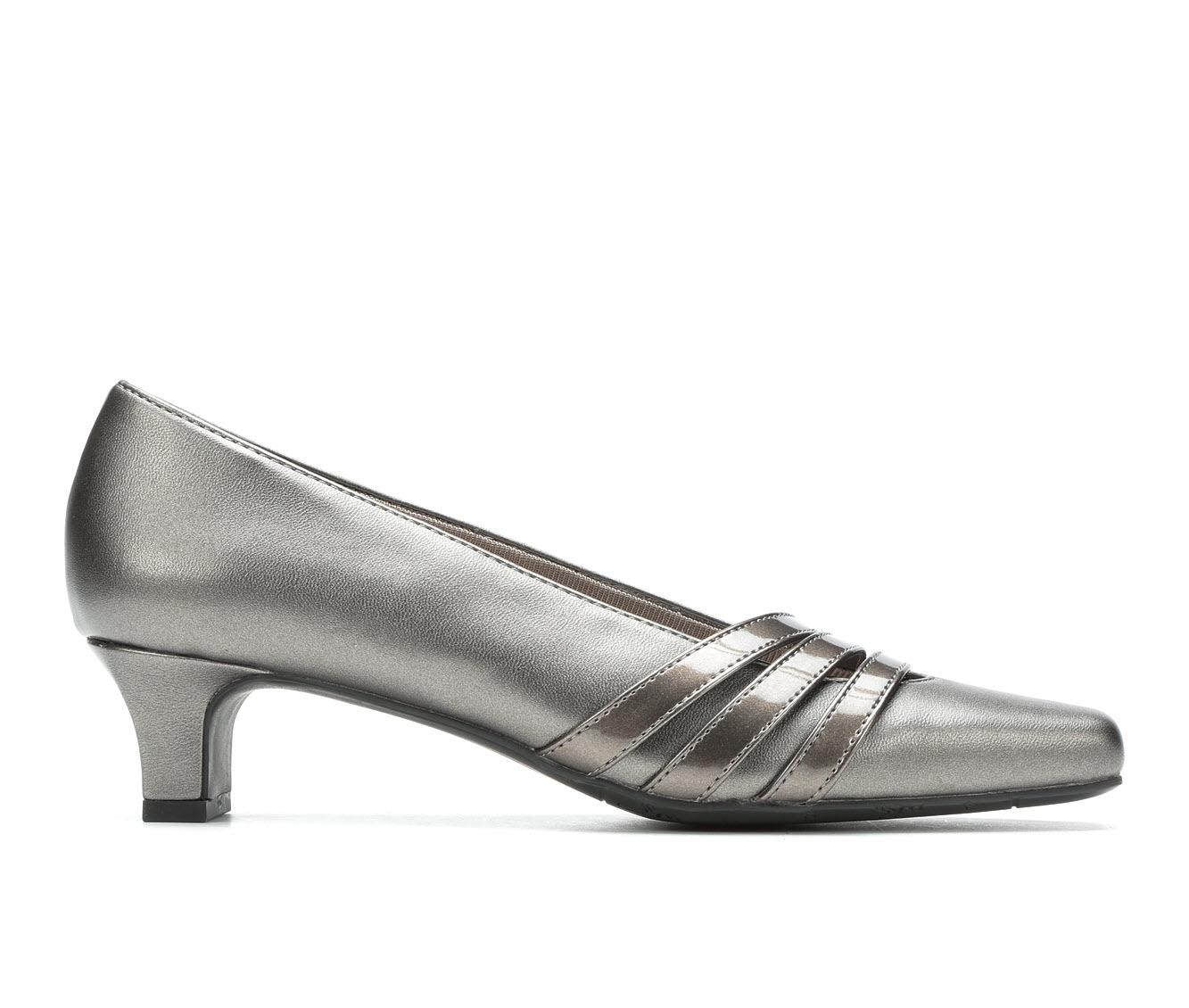 Easy Street Entice Women's Dress Shoe (Silver Faux Leather)