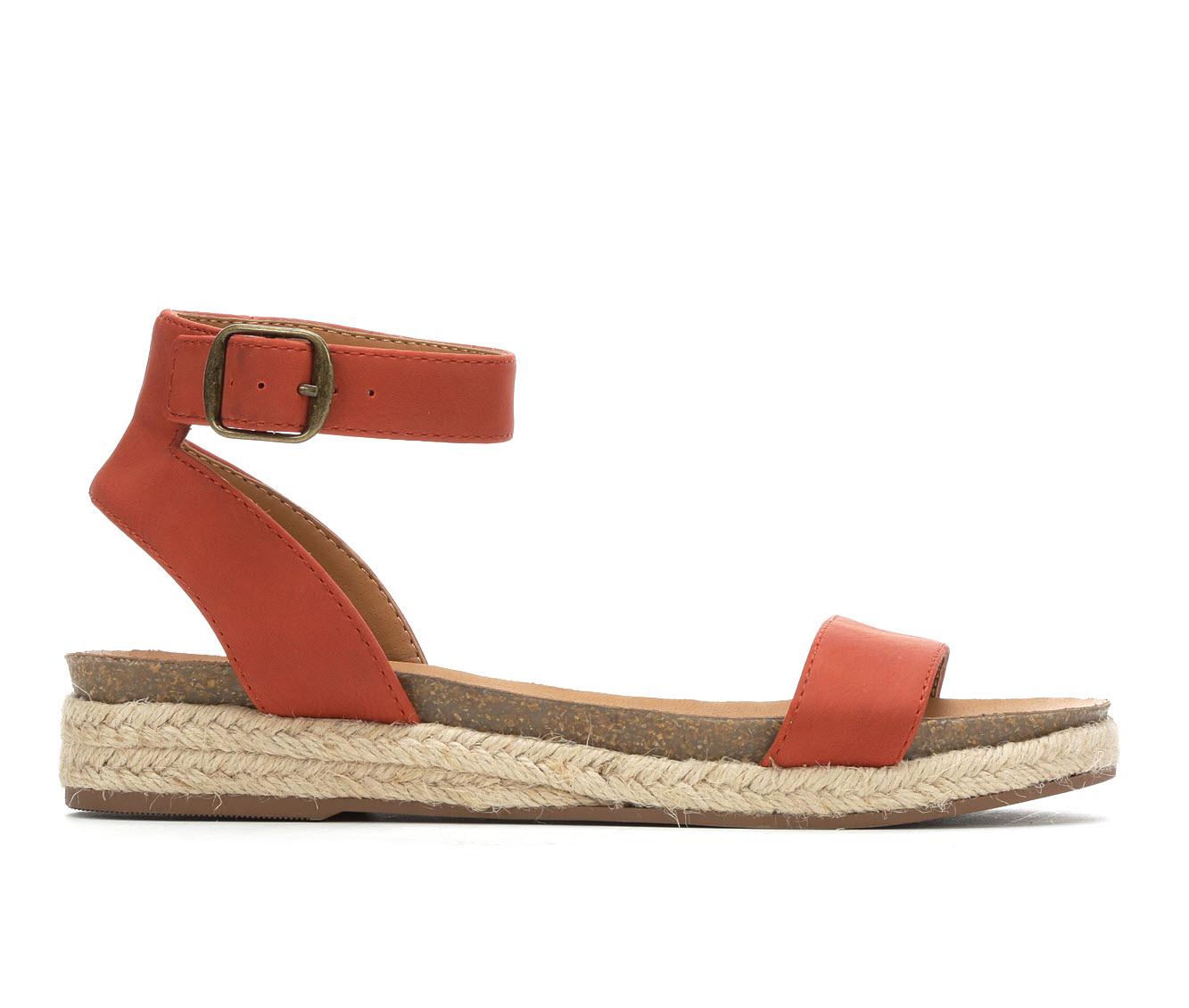 City Classified Tacoma Women's Sandal (Orange Faux Leather)