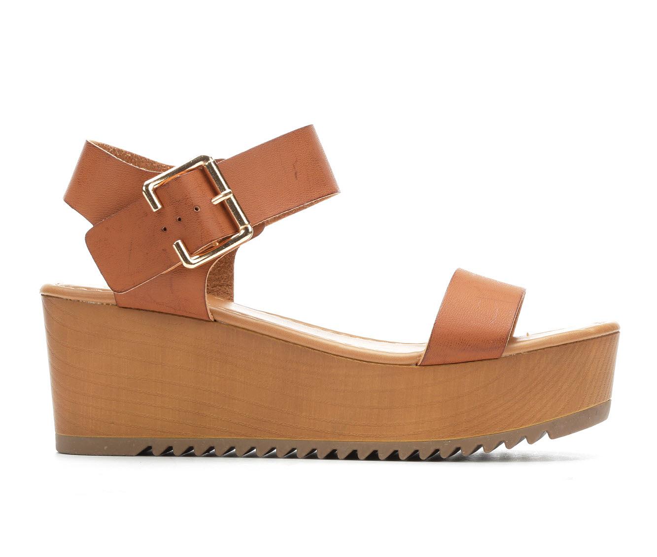 Y-Not Ayla Women's Sandal (Beige Faux Leather)