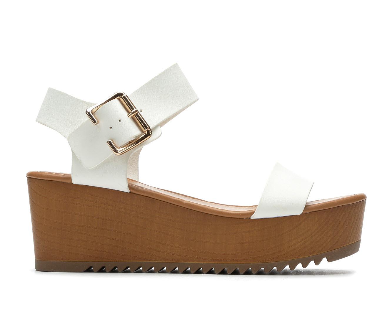 Y-Not Ayla Women's Sandal (White Faux Leather)