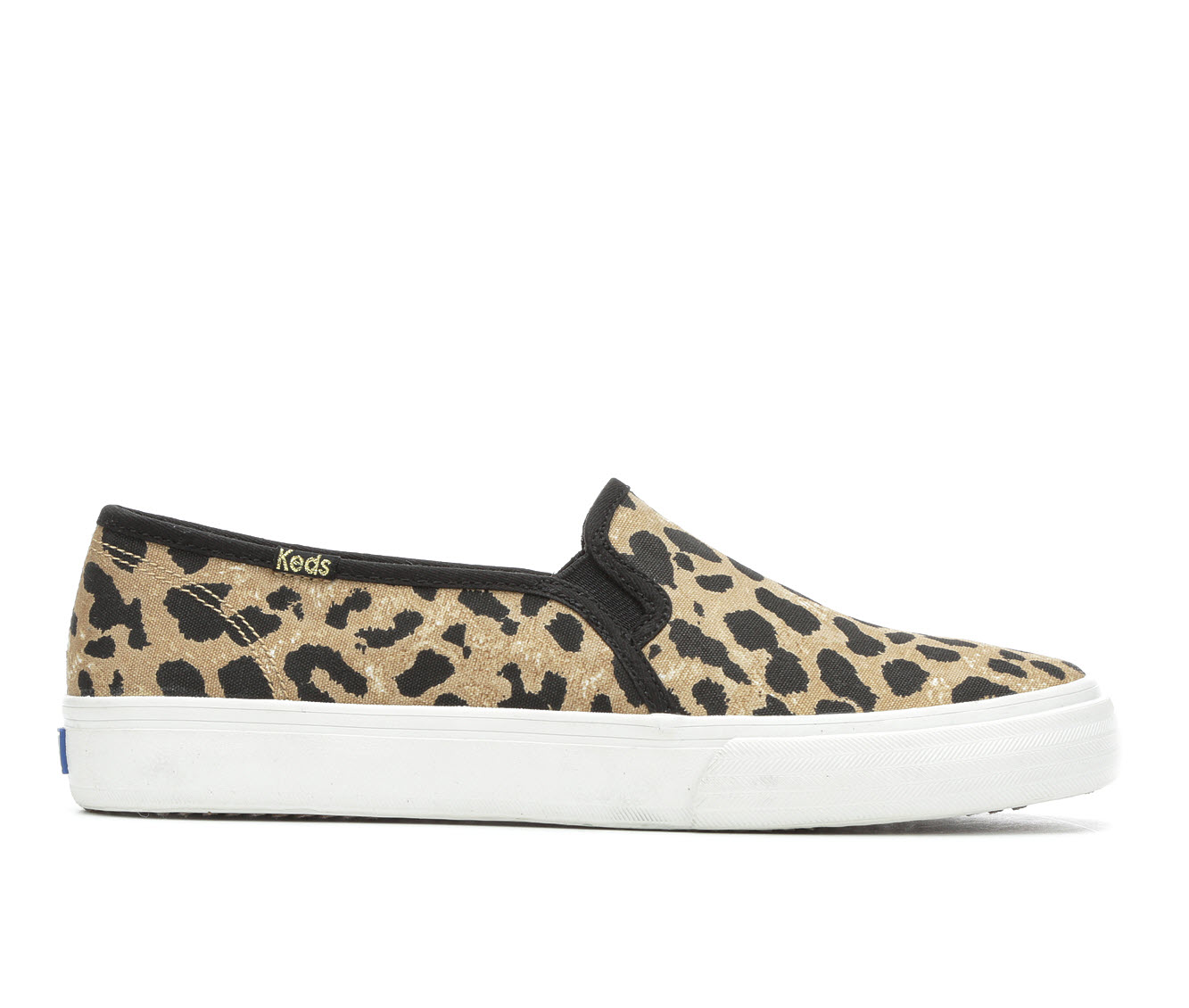 Keds Double Decker Leopard Women's Shoe (Beige Canvas)