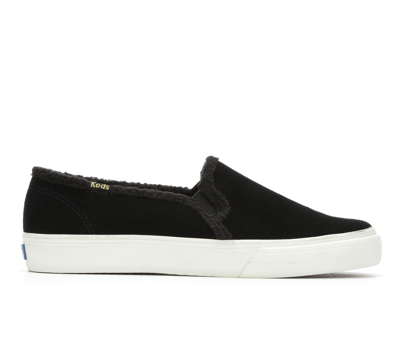Keds Double Decker Shearling Women's Shoe (Black Canvas)