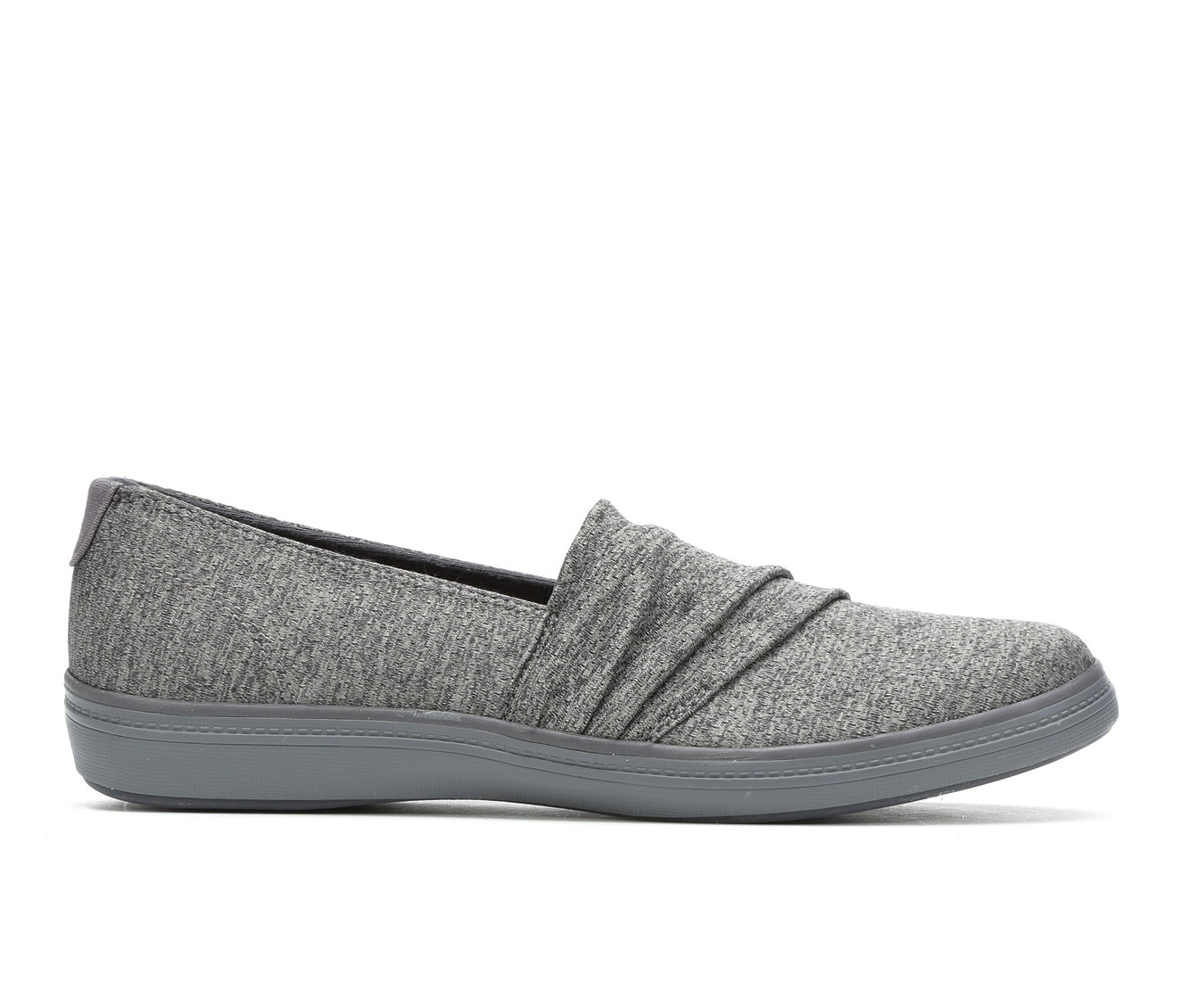 Grasshoppers Lacuna Pleated Women's Shoe (Gray Canvas)