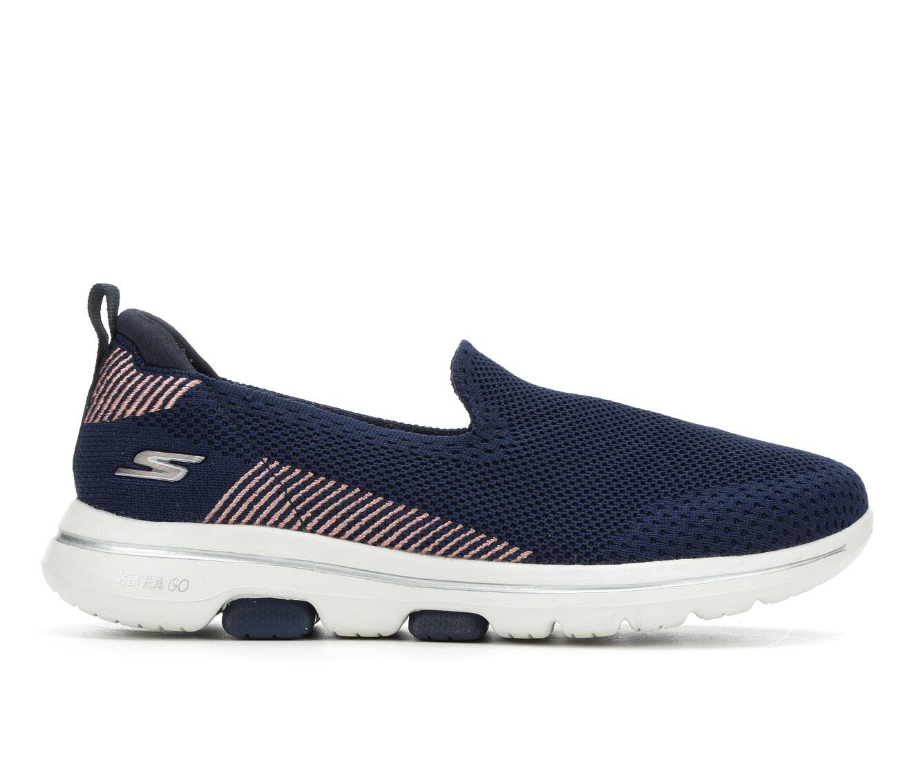 Skechers Go Go Walk 5 Prized 15900 Women's Shoe (Blue Canvas)