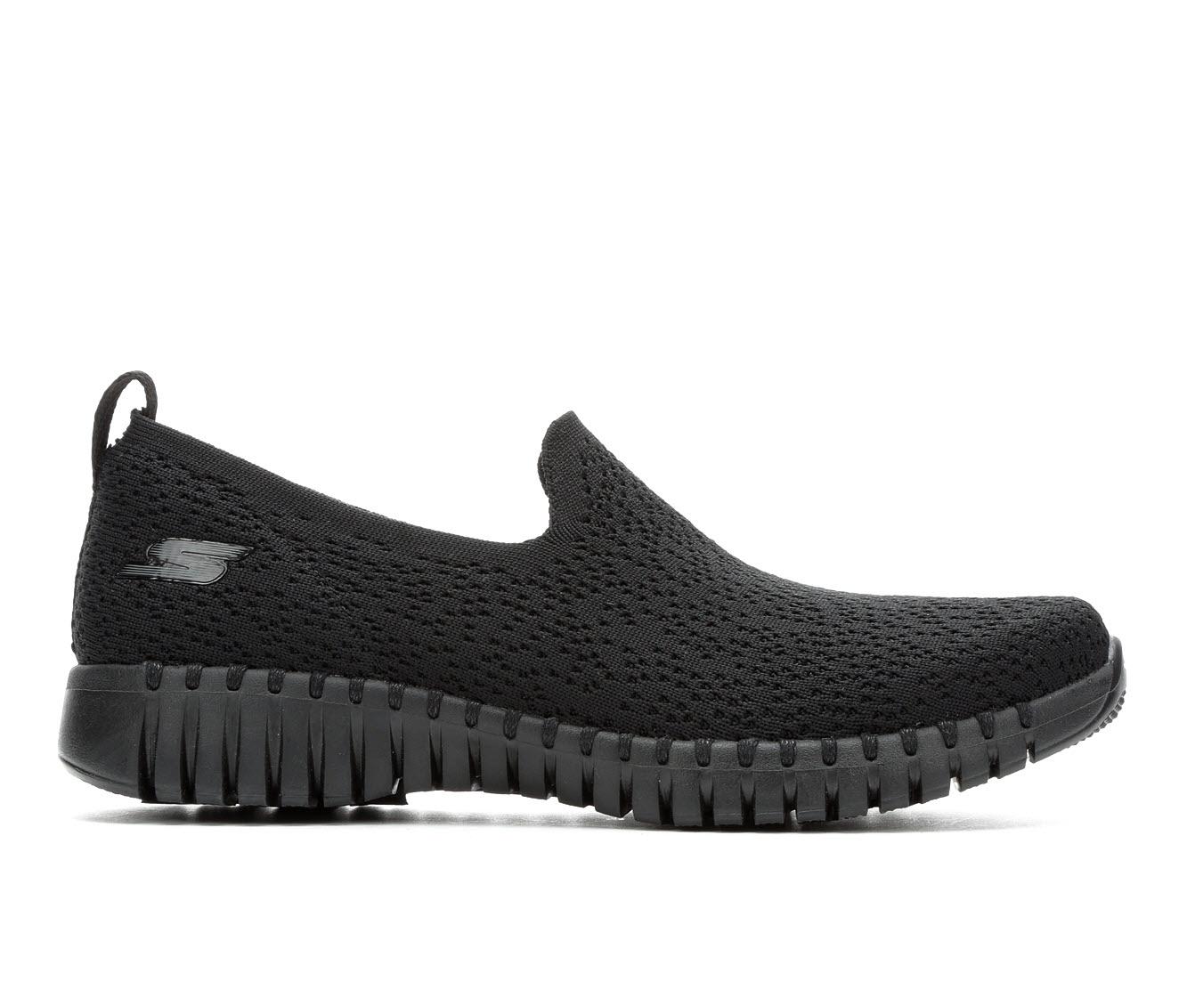 Skechers Go Go Walk Smart 16701 Women's Shoe (Black Canvas)