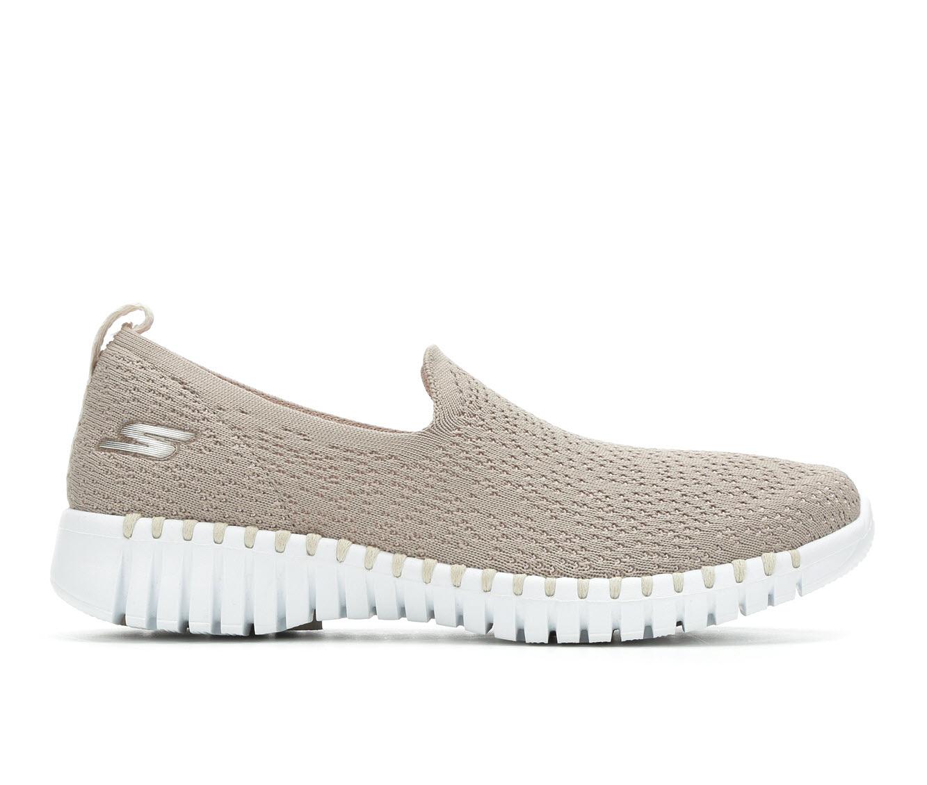 Skechers Go Go Walk Smart 16701 Women's Shoe (Beige Canvas)