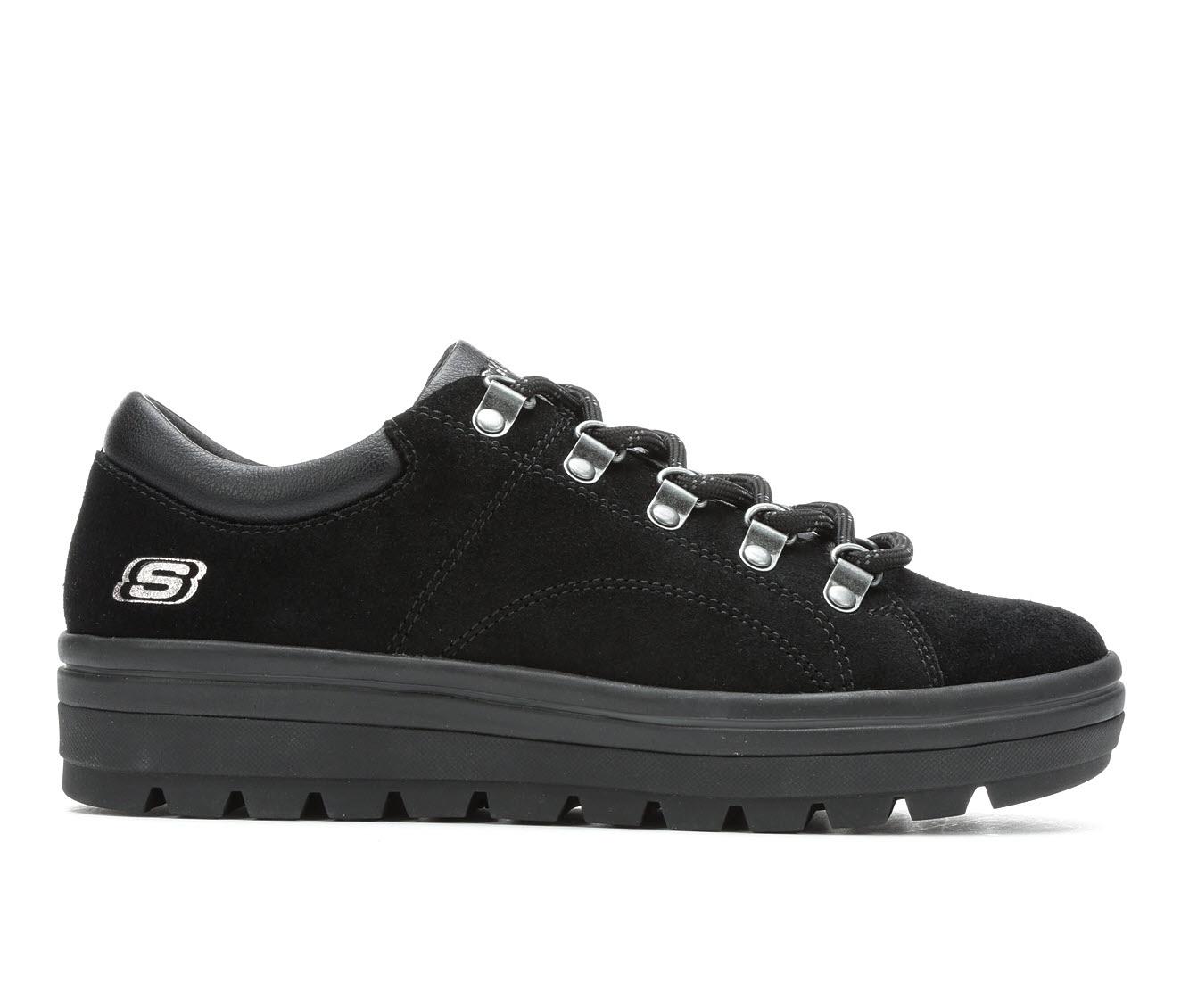 Skechers Street Fashion Trails Women's Shoe (Black Canvas)