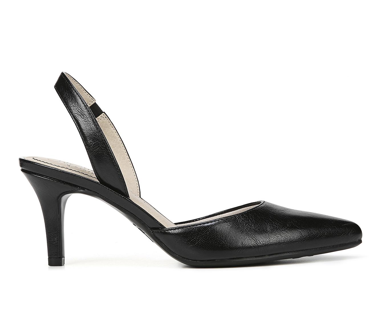 LifeStride Shane Women's Dress Shoe (Black Faux Leather)