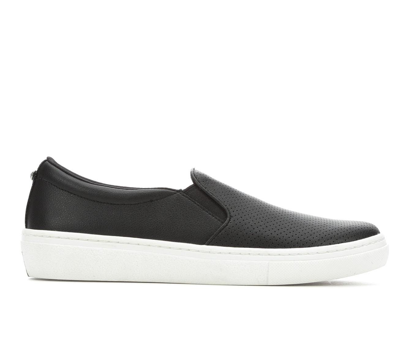 Skechers Street Plain Jane Women's Shoe (Black Faux Leather)