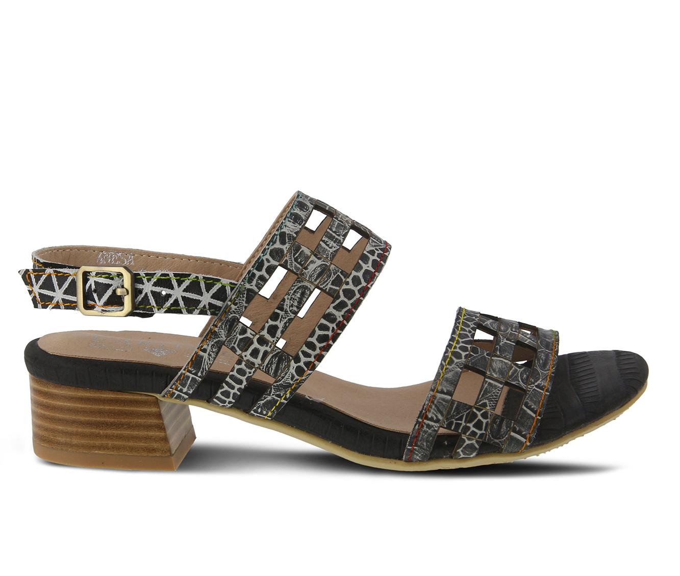 L'Artiste Anesa Women's Sandal (Black Leather)