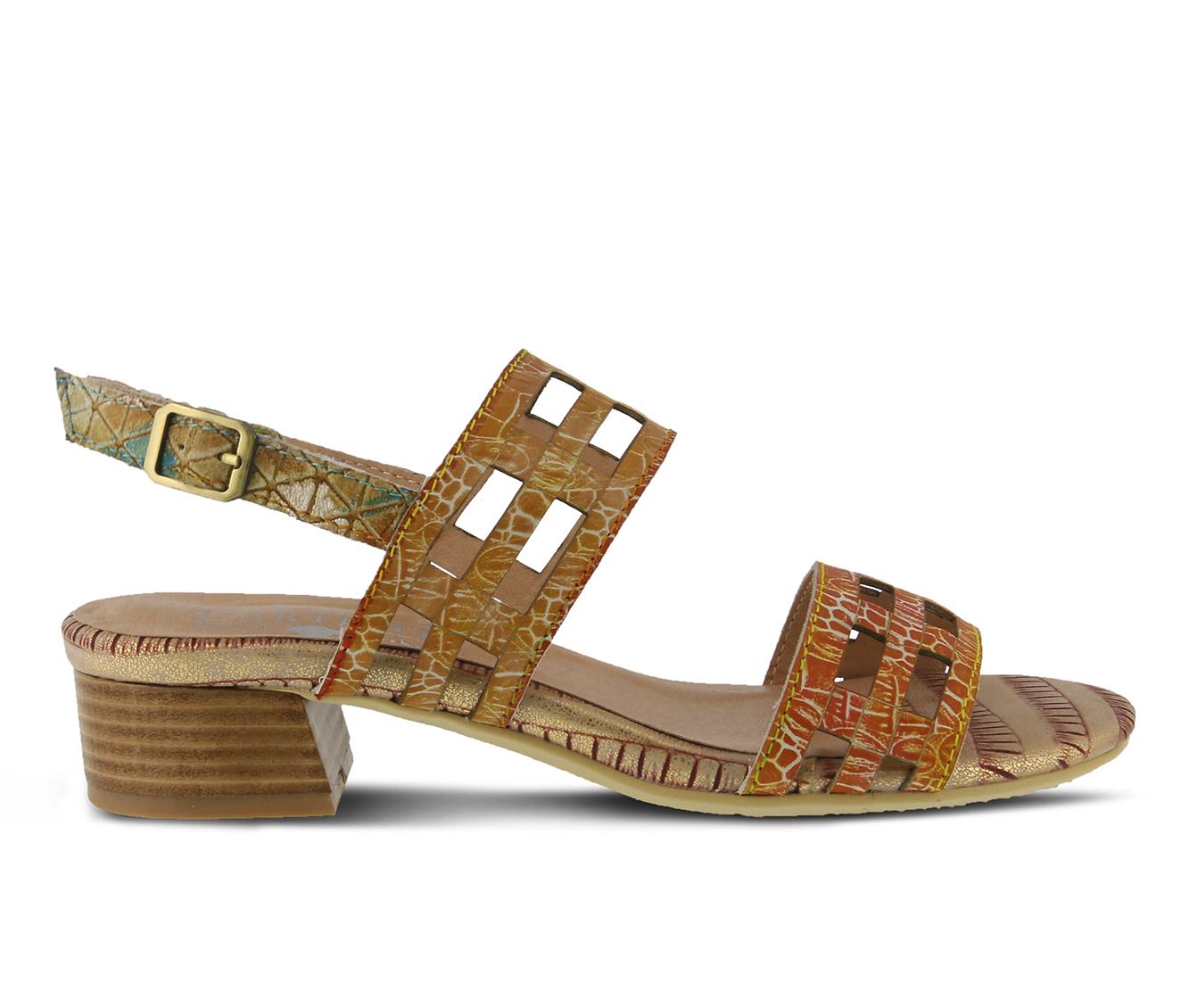 L'Artiste Anesa Women's Sandal (Orange Leather)