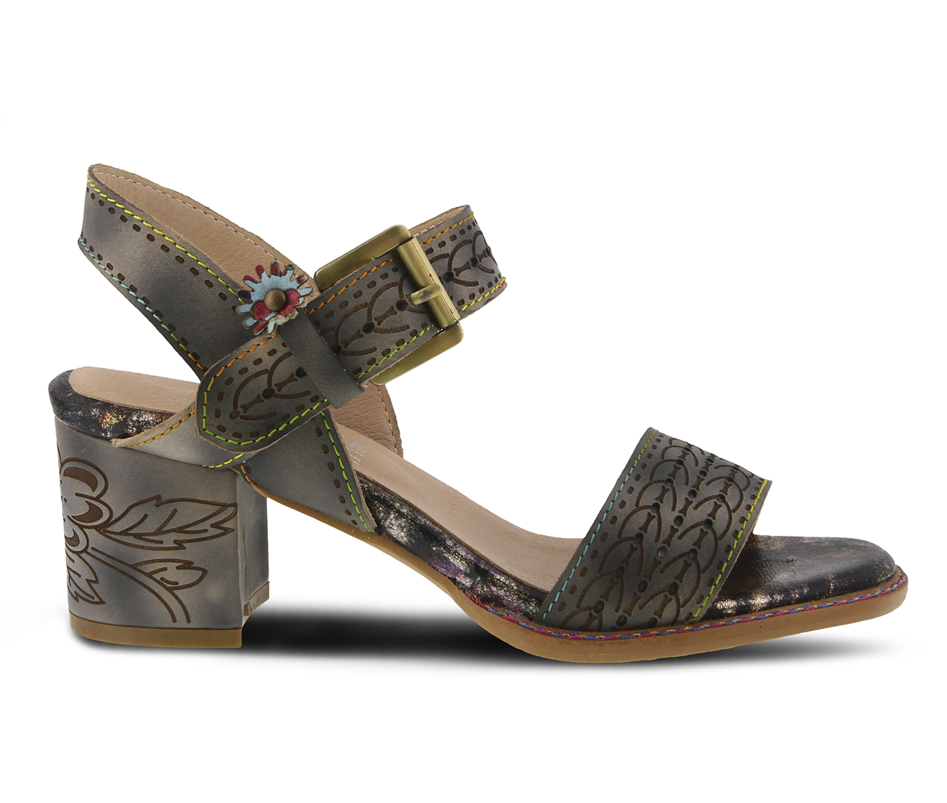 L'Artiste Avonora Women's Dress Shoe (Gray Leather)