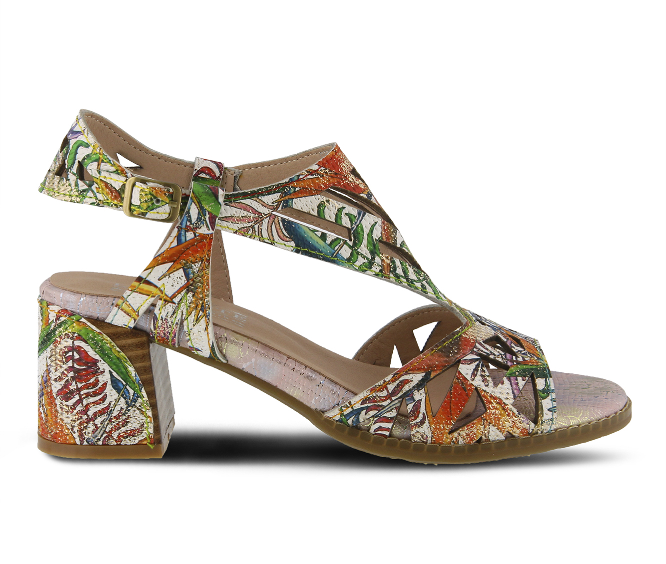 L'Artiste Calpie Women's Dress Shoe (Orange Leather)