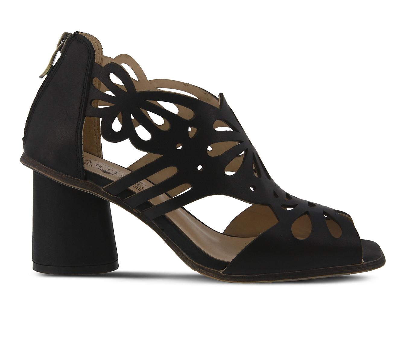 L'Artiste Flamenco Women's Dress Shoe (Black Leather)