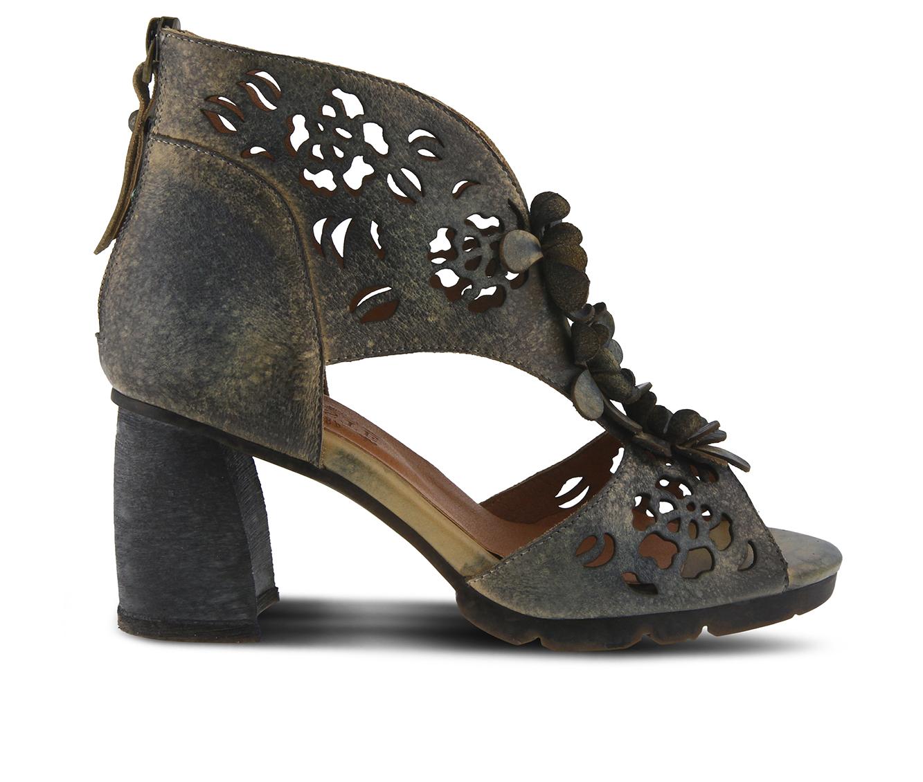 L'Artiste Marieloves Women's Dress Shoe (Blue Leather)