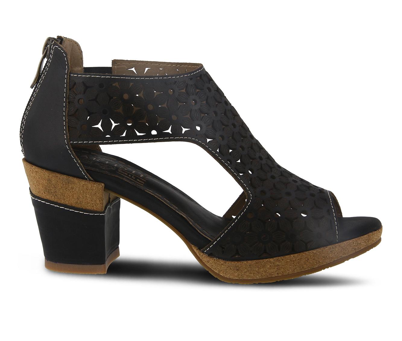 L'Artiste Hibiskus Women's Dress Shoe (Black Leather)