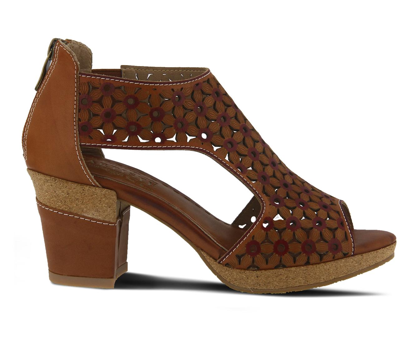 L'Artiste Hibiskus Women's Dress Shoe (Beige Leather)