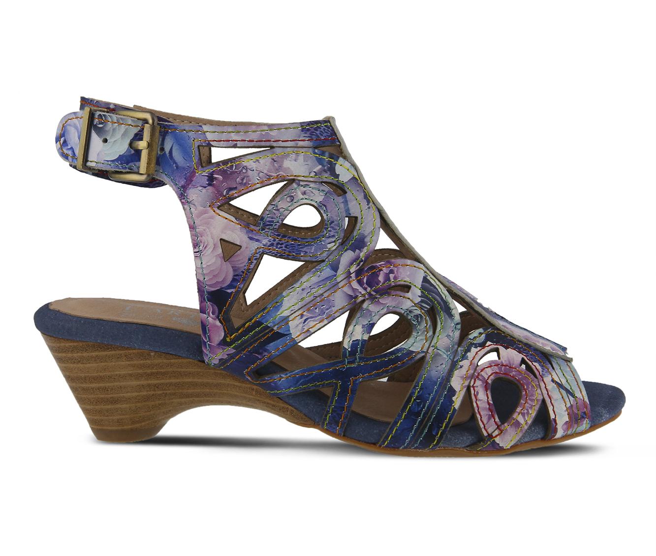 L'Artiste Flourisha Women's Dress Shoe (Blue Leather)