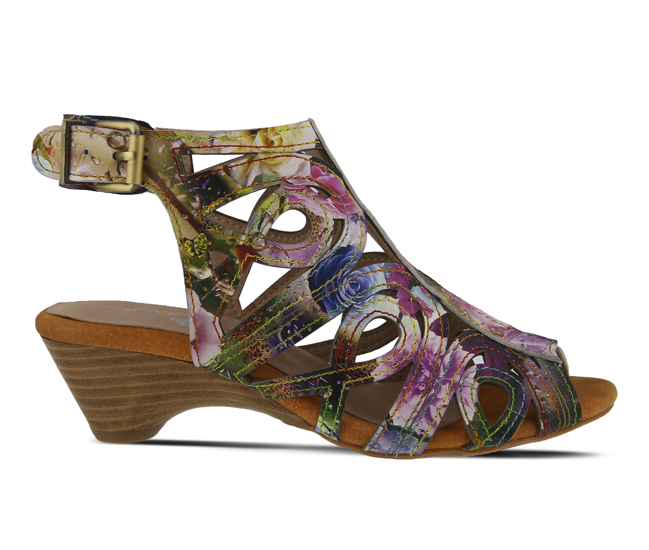 L'Artiste Flourisha Women's Dress Shoe (Purple Leather)