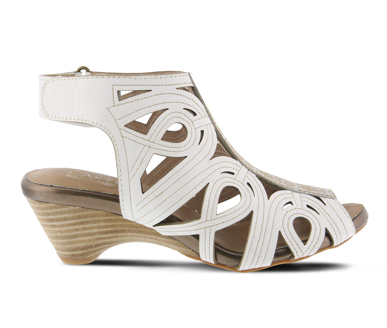 L'Artiste Flourish Women's Dress Shoe (White Leather)