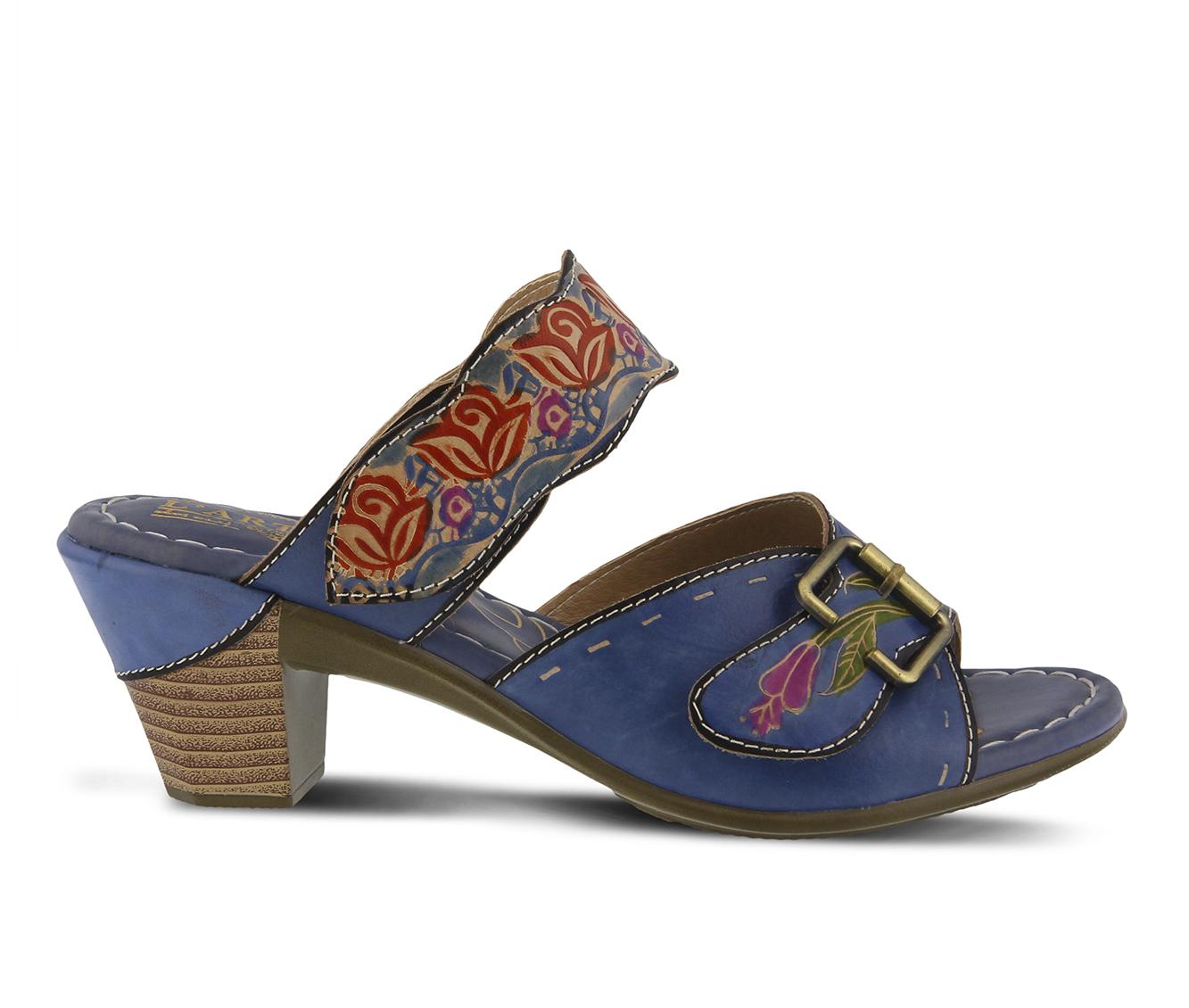L'Artiste Ozuna Women's Dress Shoe (Blue Leather)