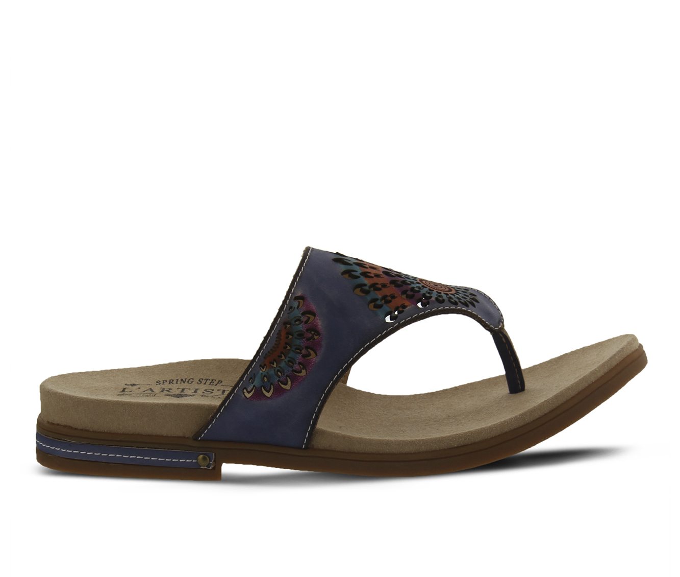 L'Artiste Mayura Women's Sandal (Blue Leather)
