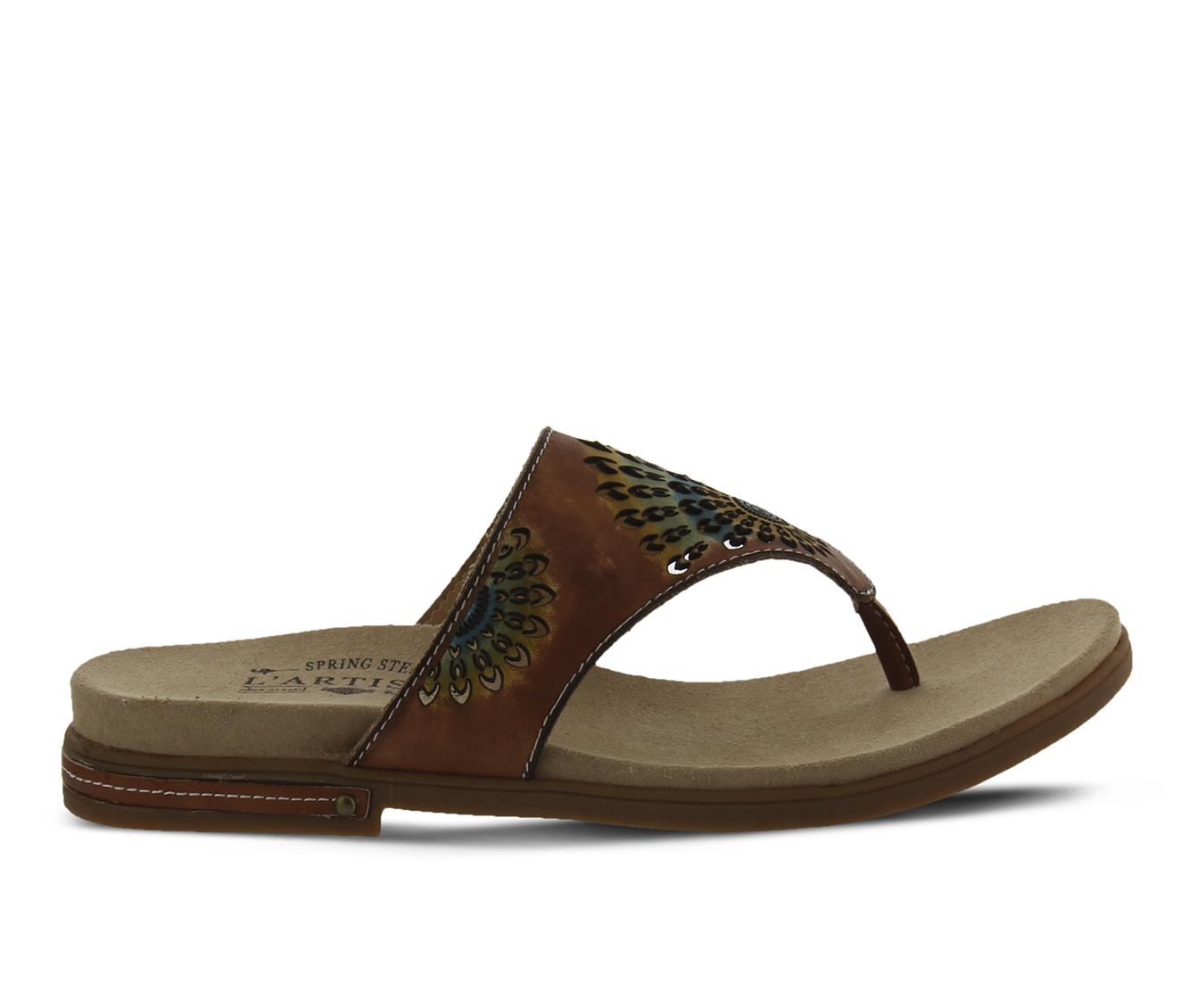 L'Artiste Mayura Women's Sandal (Brown Leather)