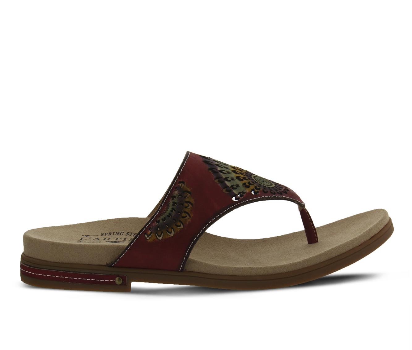 L'Artiste Mayura Women's Sandal (Red Leather)