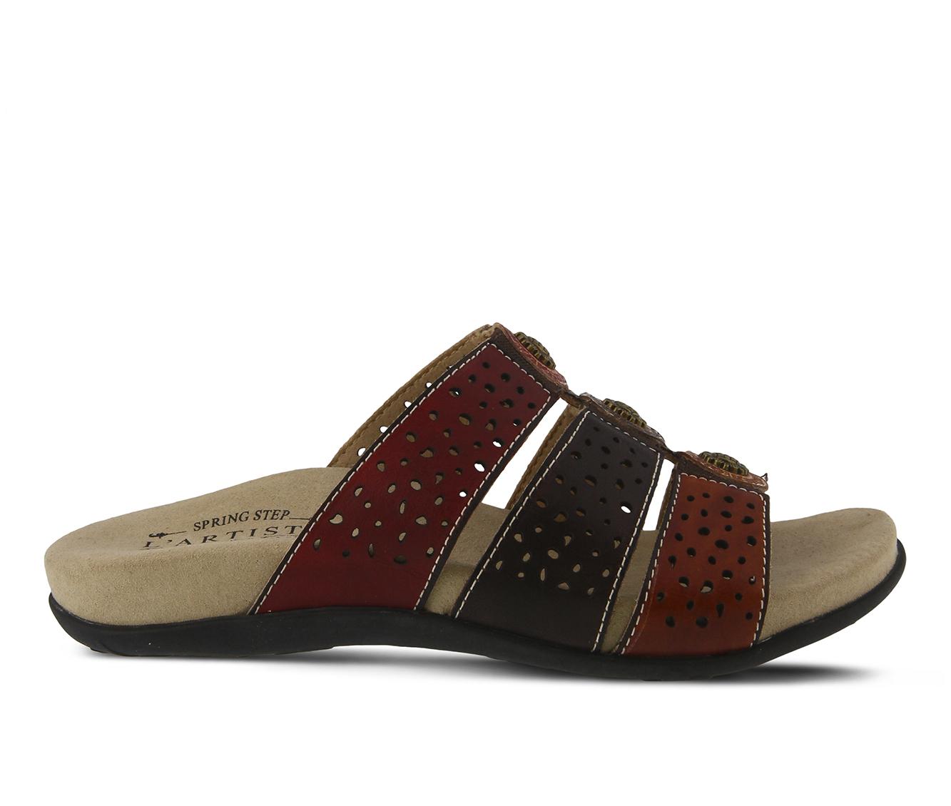 L'Artiste Glennie Women's Sandal (Red Leather)