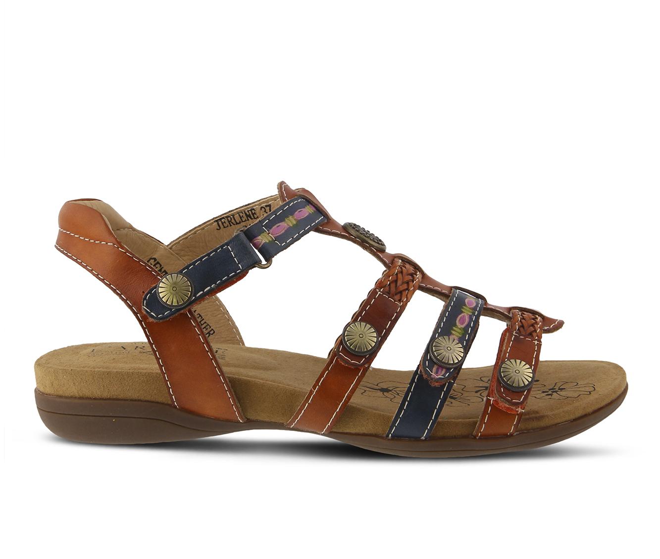 L'Artiste Jerlene Women's Sandal (Beige Leather)