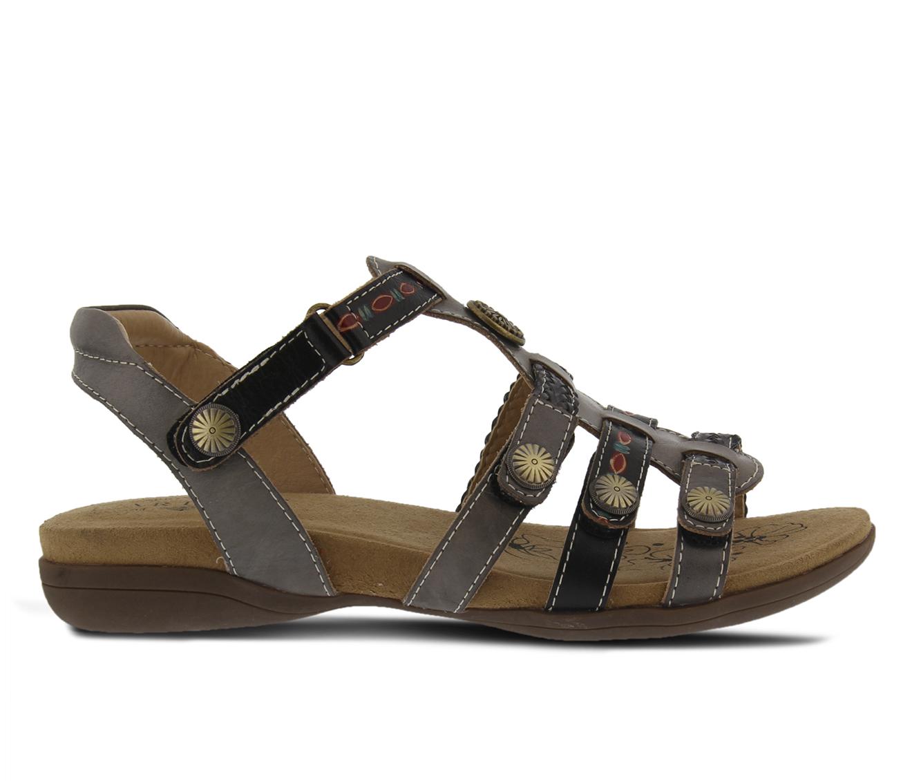 L'Artiste Jerlene Women's Sandal (Gray Leather)