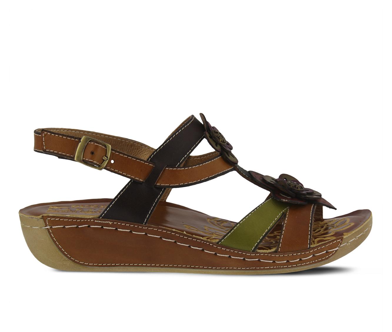 L'Artiste Phalda Women's Sandal (Beige Leather)