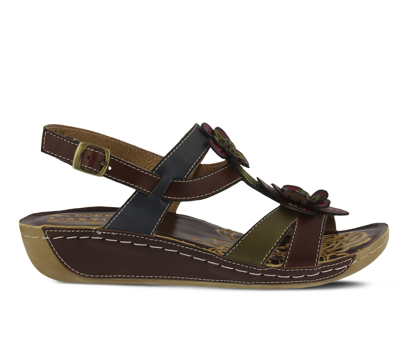 L'Artiste Phalda Women's Sandal (Brown Leather)