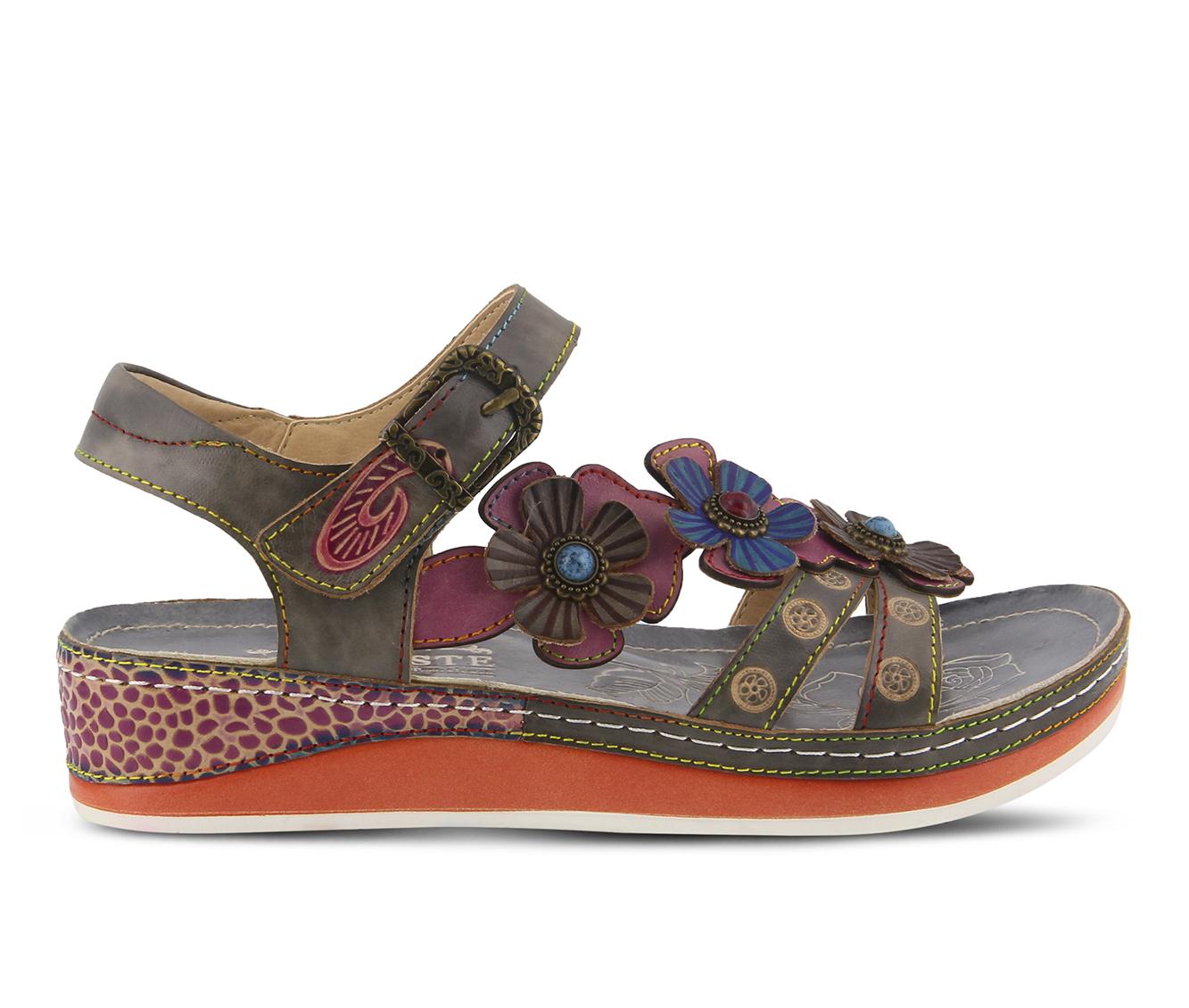 L'Artiste Goodie Women's Sandal (Gray Leather)