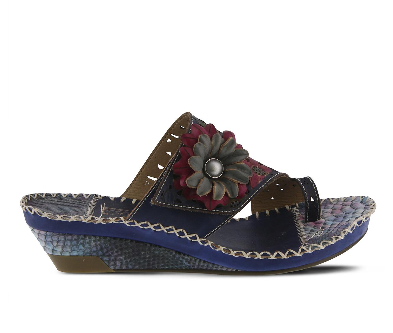 L'Artiste Vardi Women's Sandal (Blue Leather)