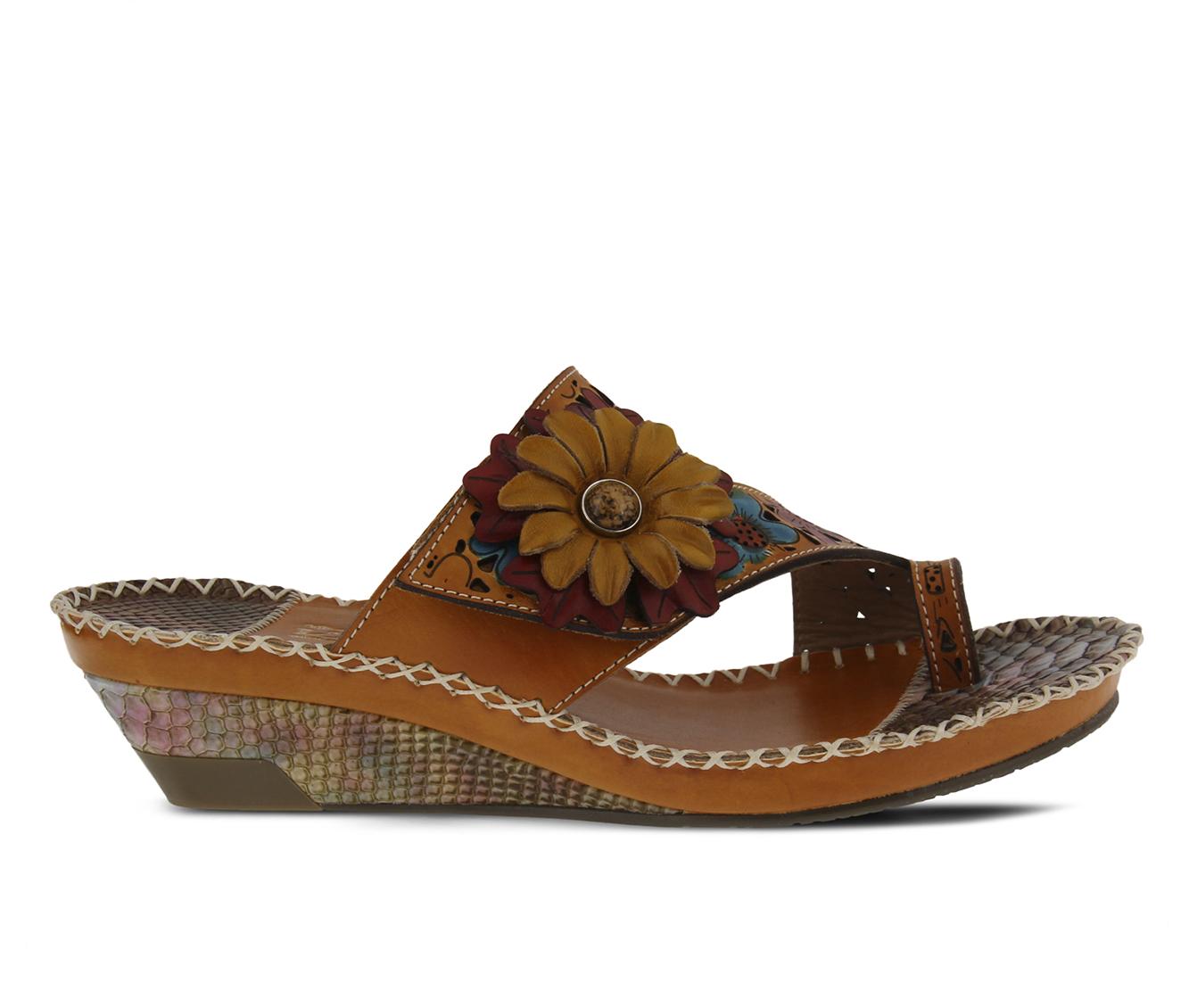L'Artiste Vardi Women's Sandal (Beige Leather)