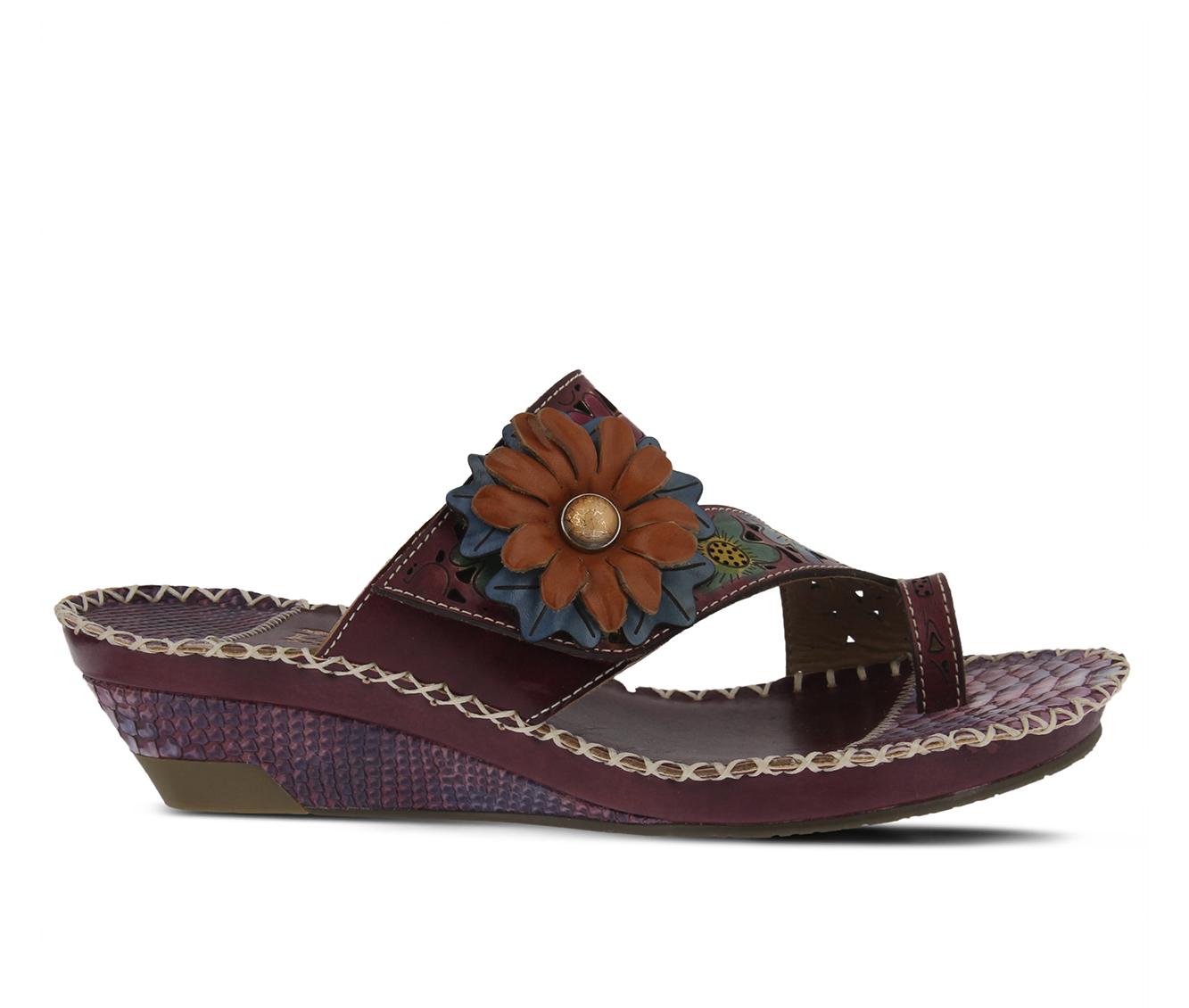 L'Artiste Vardi Women's Sandal (Purple Leather)