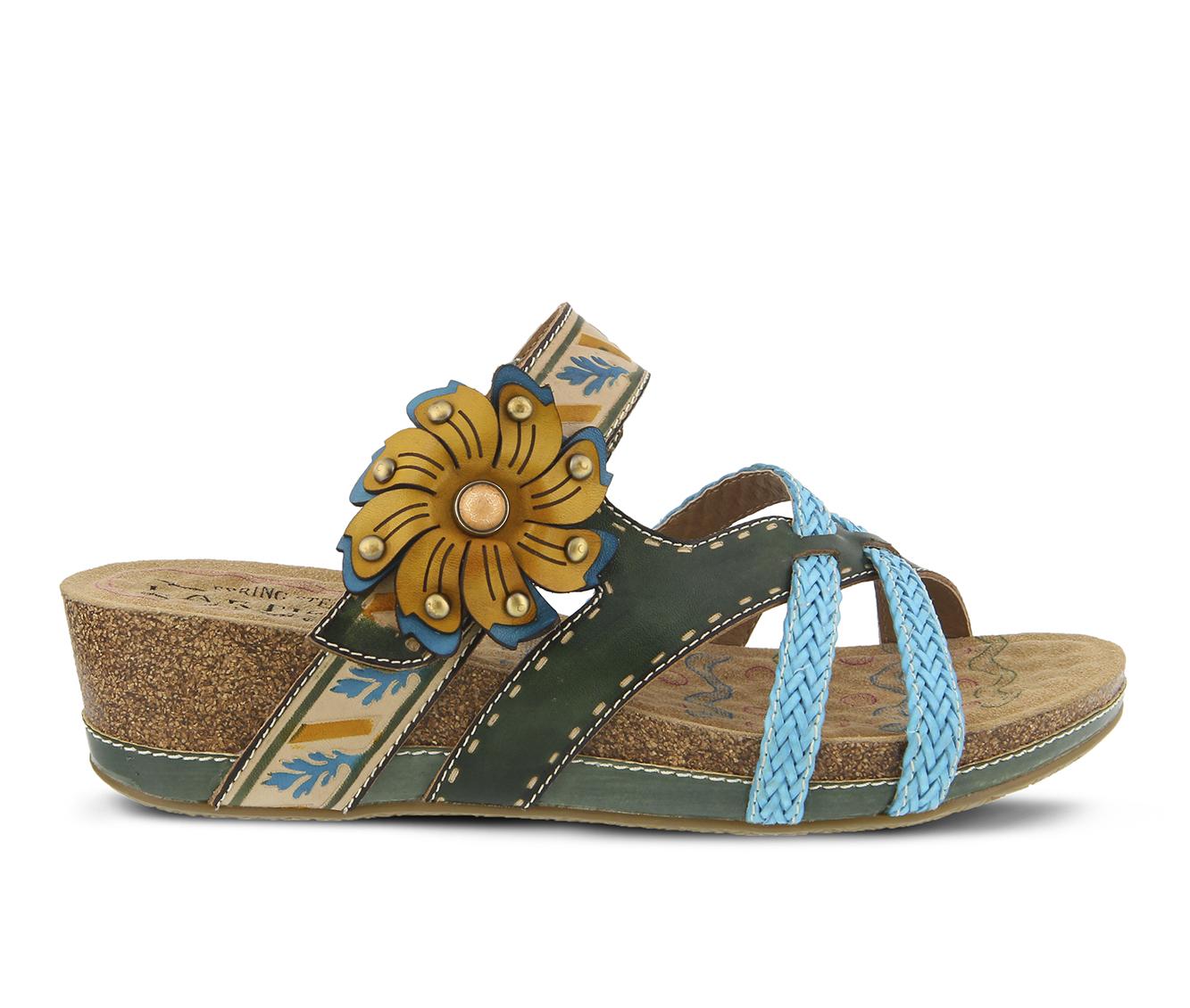 L'Artiste Deonna Women's Sandal (Green Leather)