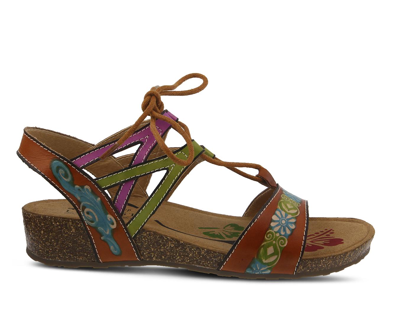 L'Artiste Loma Women's Sandal (Beige Leather)