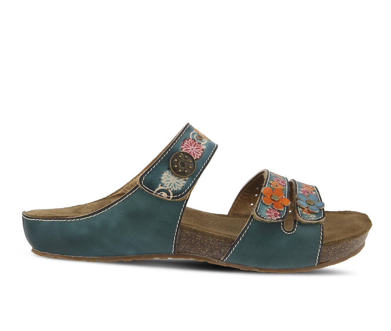 L'Artiste Freesia Women's Sandal (Blue Leather)