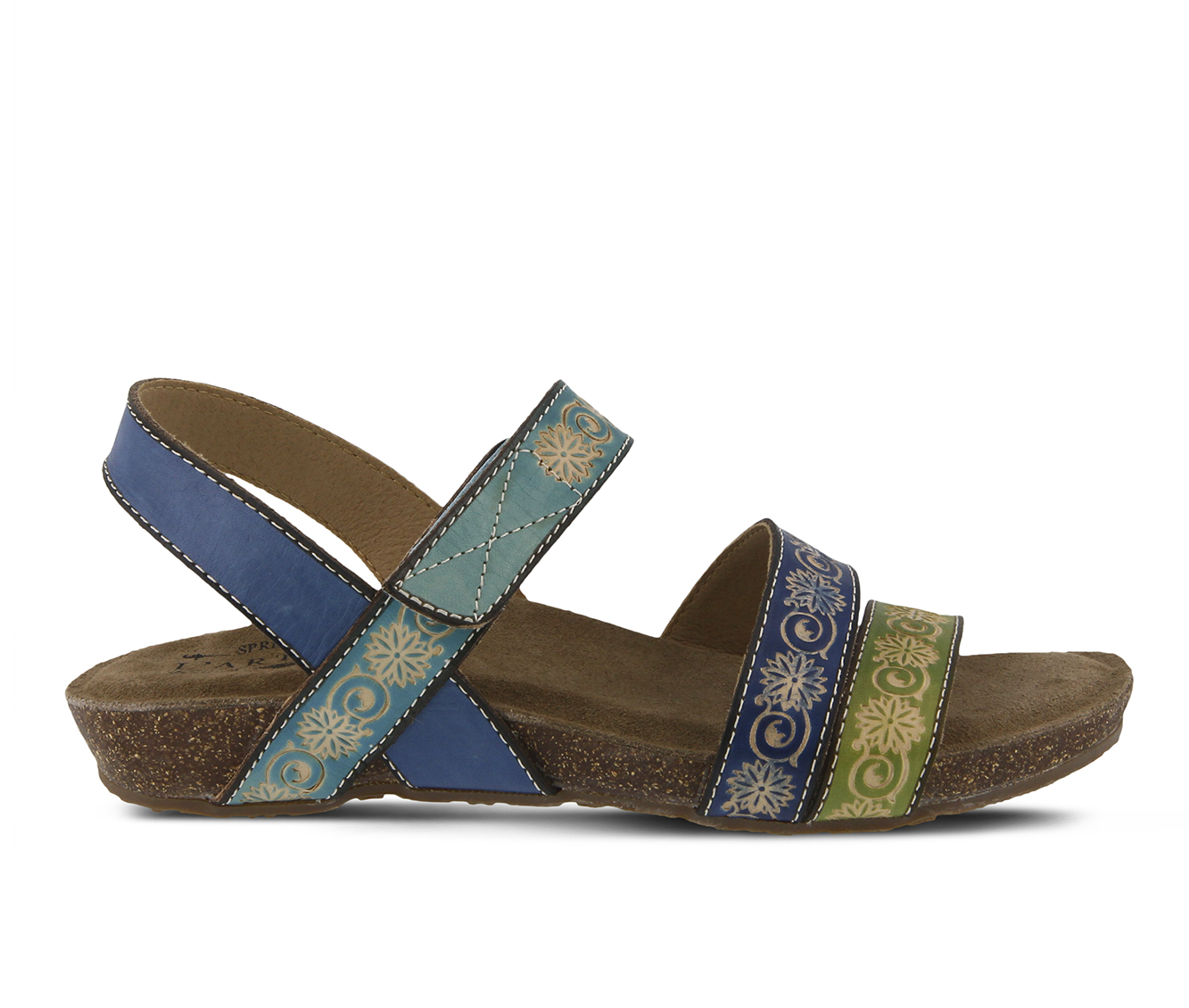 L'Artiste Paldina Women's Sandal (Blue Leather)